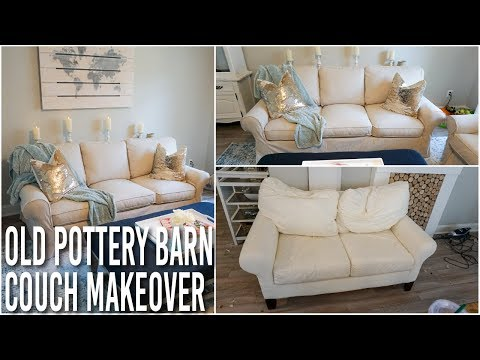 Breathing New Life Into A Tired Pottery Barn Sofa And Loveseat