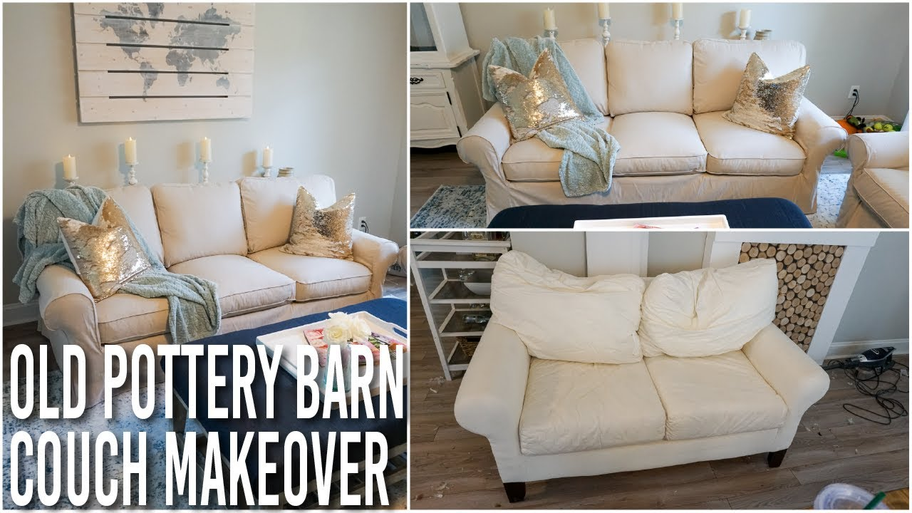 Breathing New Life Into A Tired Pottery Barn Sofa And Loveseat Youtube