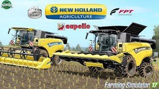 Farming Simulator 17   New Holland CR9.90 Yellow Bull & 40 Yrs Edition + Varifeed 25FT & Diamant 8