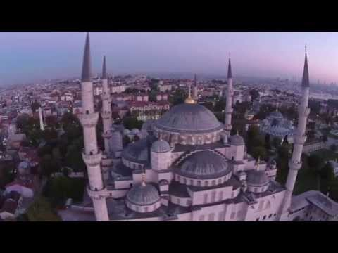 Drone crash into Blue Mosque, Istanbul, Turkey