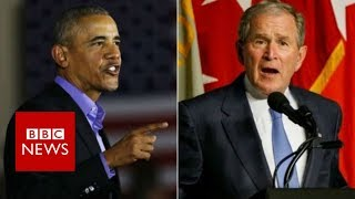 2017-10-20-11-08.Former-Presidents-Obama-and-Bush-decry-Trump-era-politics-BBC-News