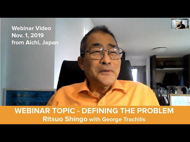 Webinar 1 - How to Define a Problem