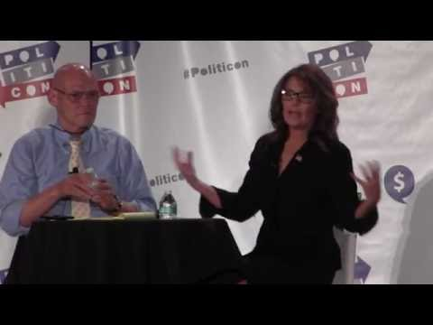 Gov. Sarah Palin inteviewed by James Carville at PolitiCon