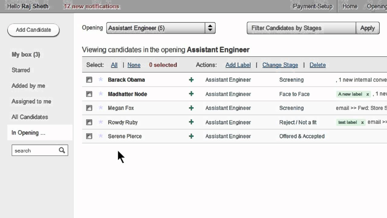 Recruitment Software With Online Applicant Tracking System