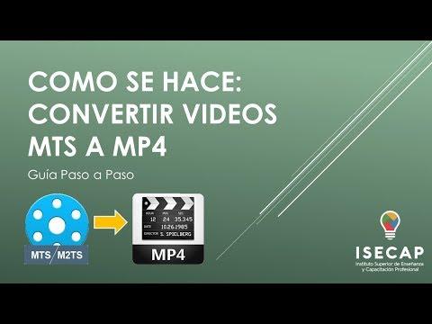 ¿Cómo convertir Videos MTS a MP4?