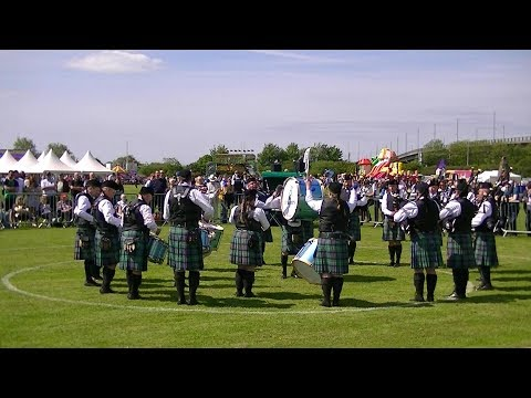 ST MARYS DERRYTRASNA PIPE BAND AT THE BRITISH PIPE BAND CHAMPIONSHIPS 2018