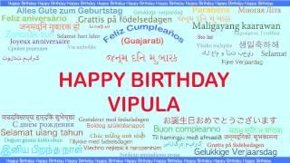 Vipula   Languages Idiomas - Happy Birthday