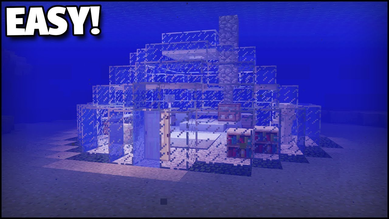 Minecraft How To Make An Underwater House Youtube