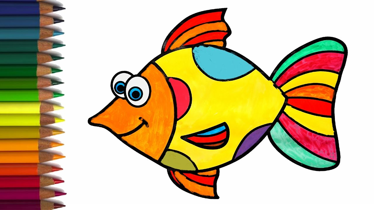 Coloring A Colorful Fish