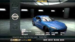 Need for speed shift 2: Unleashed car list