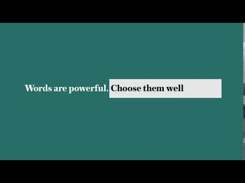 Words are powerful. Choose them well. News app