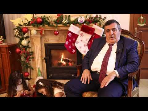 Mayor of Bethlehem greetings to all the twin cities with Bethlehem