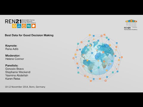 REN21 Renewables Academy 2014 Best Data for Good Decision Ma