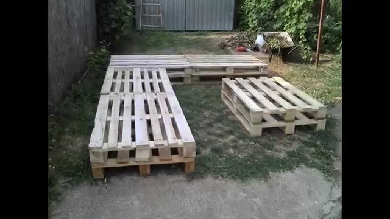 pallet furniture project youtube - Garden Furniture Using Pallets