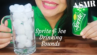 ASMR ~ SPRITE & ICE CRUNCHING SOUNDS (No Talking)