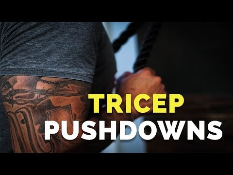 Do Cable Tricep Pushdowns Like THIS (RIGHT WAY!)