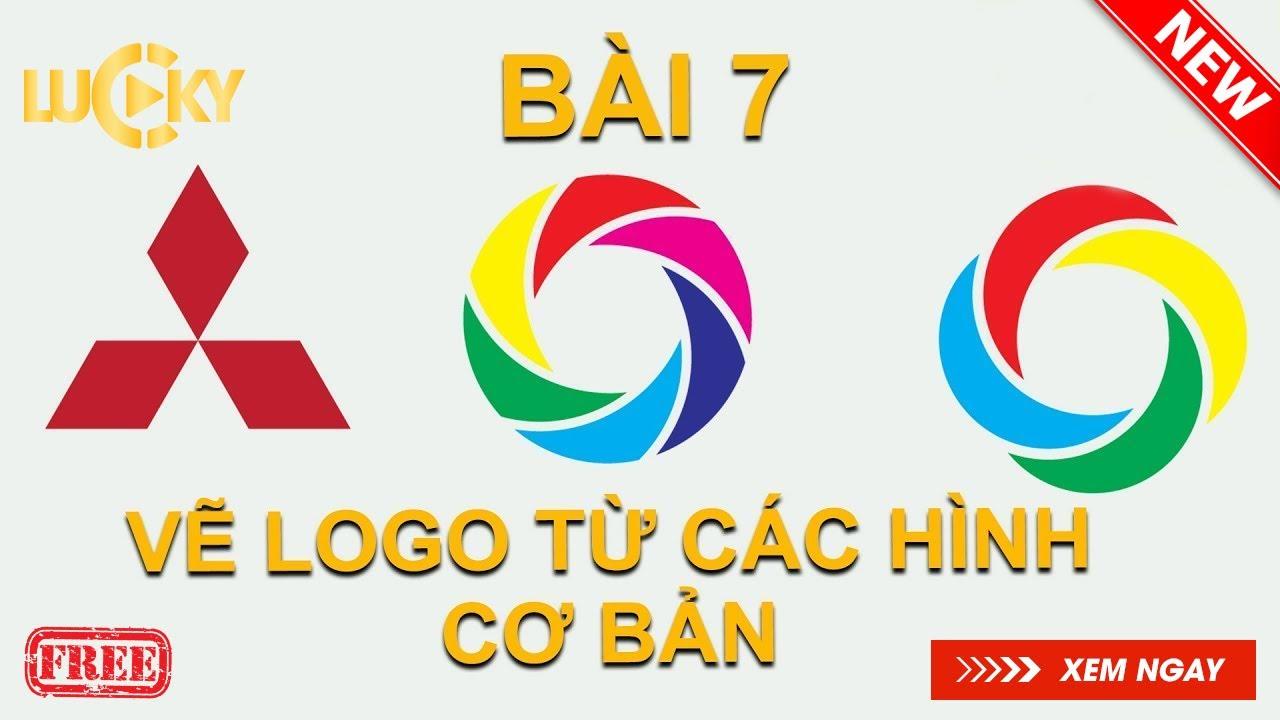 Bài 7: Hướng dẫn cách vẽ logo đẹp từ các hình cơ bản trong Illustrator cc 2018