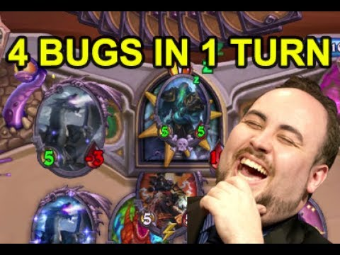 4 Different Bugs in 1 Turn - Hearthstone