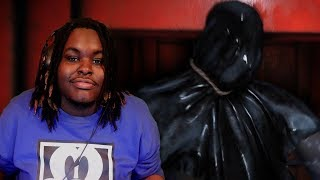GOT GRABBED UP BY A SAVAGE IN A TRASH BAG BRUH!! | Blame Him Horror Game [DEMO]