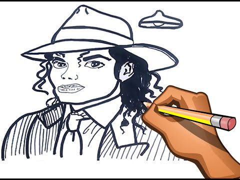 Dibujo Facil De Michael Jackson Quick Drawing Michael Jackson Youtube