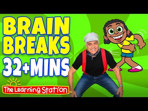 Shake Your Sillies Out ♫ Brain Breaks Playlist for Children ♫ 32+ MINS by The Learning Station