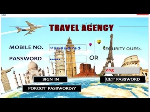 Travel & Tourism System - CBSE ip Project for Class 12 (Java Netbeans and  MySql)