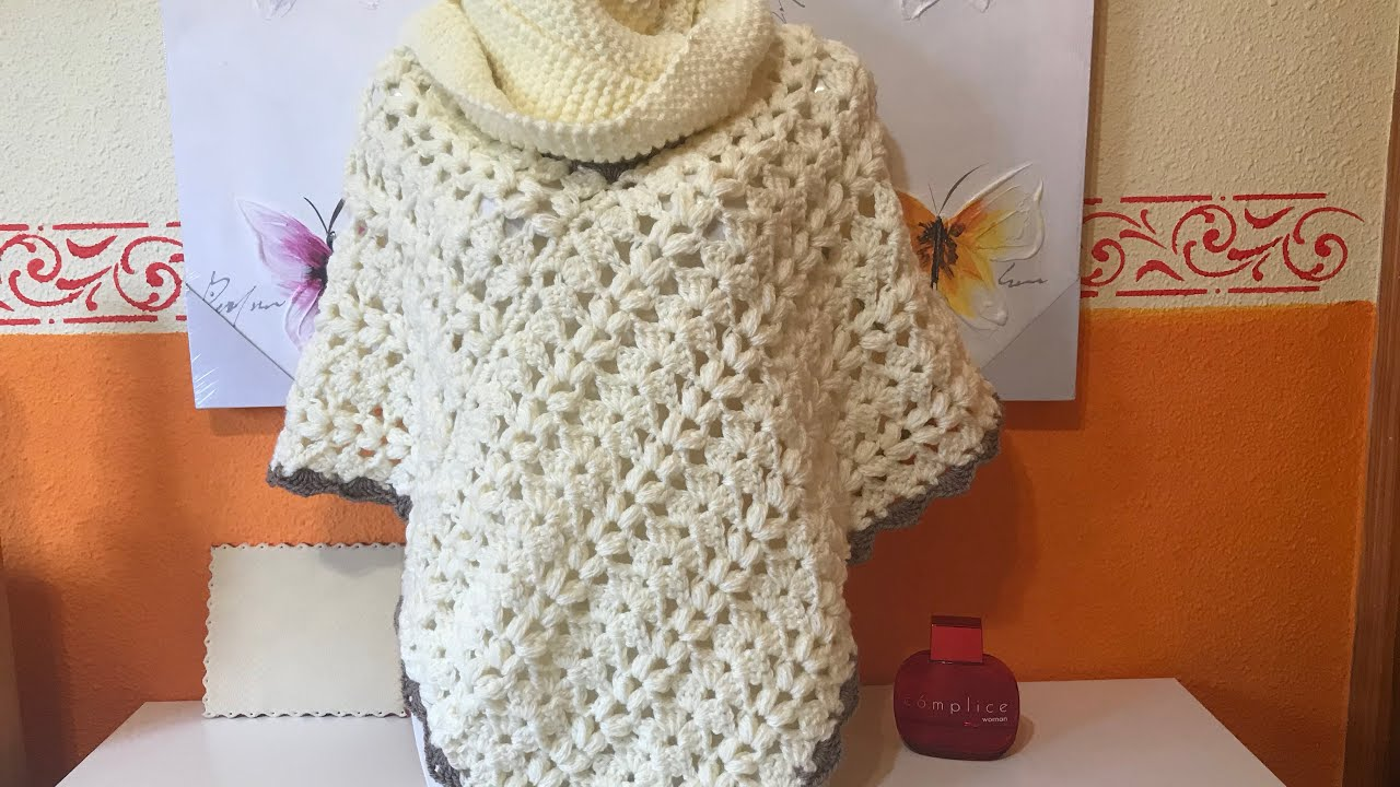 Poncho Facil A Crochet Youtube