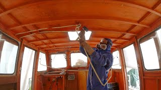 Restoring the Wheelhouse of our Boat - Week 26 - Vintage Yacht Restoration Vlog