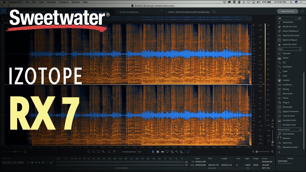 iZotope RX7 Standard - Academic Version | Sweetwater