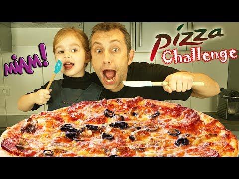 Pizza Challenge ! Qui fera la plus belle pizza ? Recette gourmande et facile pour enfant ! Miam !