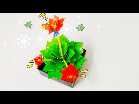 DIY Paper Origami - How to make Paper Cactus 3D DIY 🌵