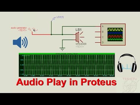 How to use Audio, Sine, Square wave by Speaker in Proteus Simulator