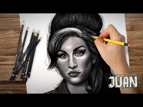 Drawing Amy Winehouse By Juan Andres Youtube