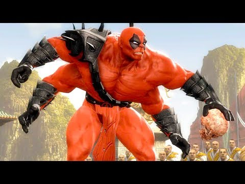 Mortal Kombat Komplete Edition - Deadpool Goro & Dark Kahn Tag Ladder 4K Gameplay Playthrough