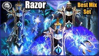 Razor Best Mix Set Eye of the Maze Keeper + Golden Severing Crest + Severing Lash