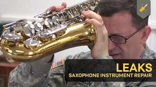 Leaks: Saxophone Instrument Repair