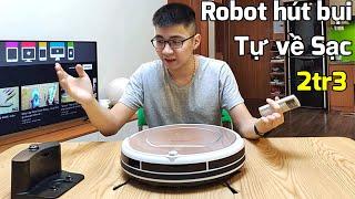 Robot hút bụi Ecovacs CEN540 giá 2tr3 Shopee : Tự về sạc, có cảm biến va chạm