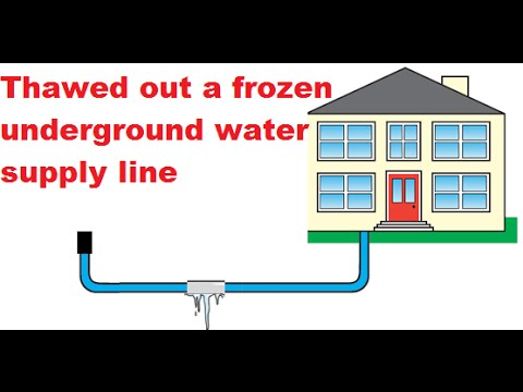 How I Thawed Out A Frozen Underground Water Supply Line From The Street To My House