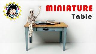 미니어쳐 테이블 만들기(책상?식탁?) Miniature - Table /미미네 미니어쳐