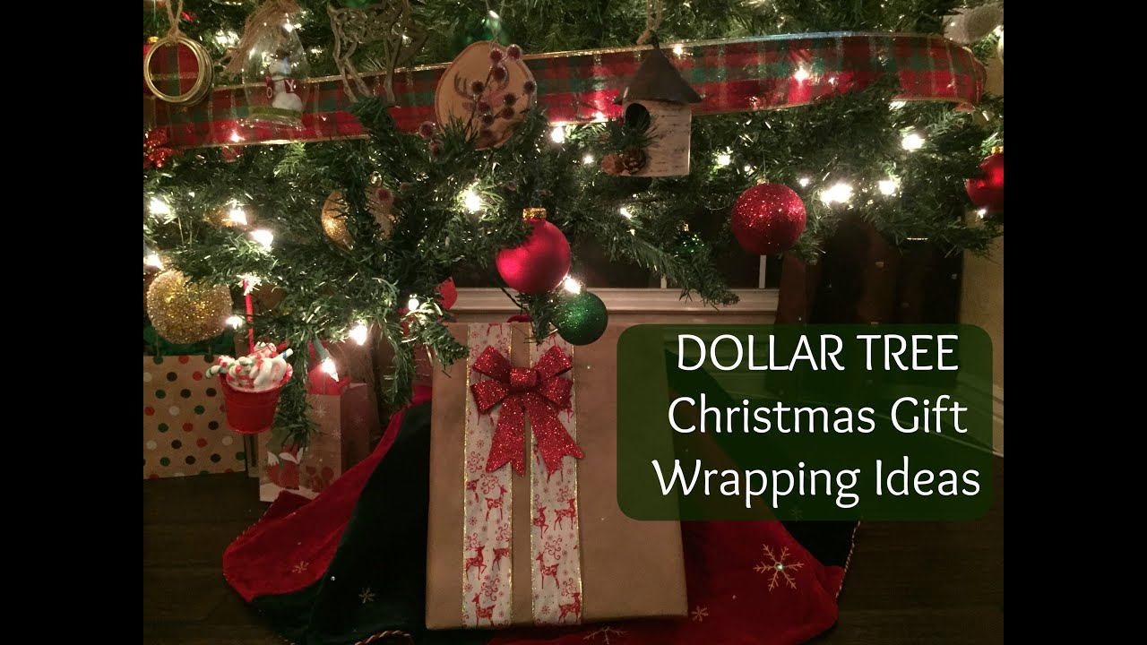 DOLLAR TREE Christmas Gift Wrapping Ideas - YouTube