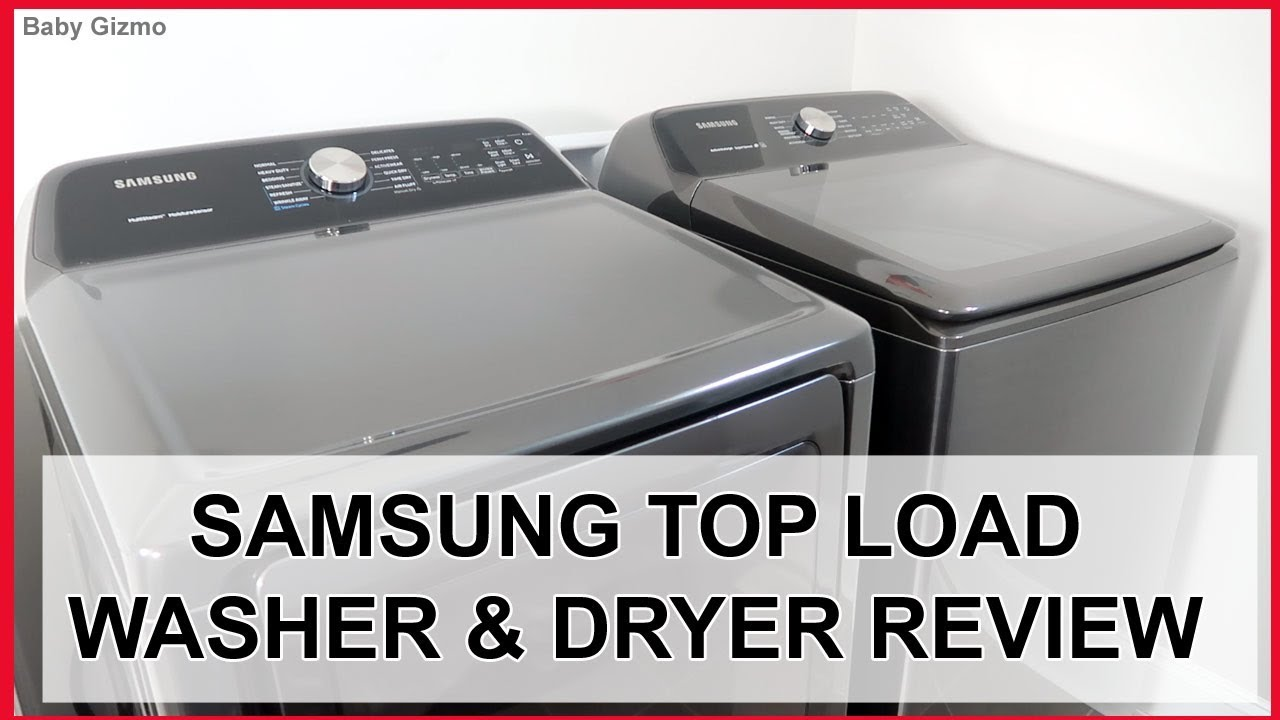 Samsung Top Load Smart Washer And Dryer Review Youtube