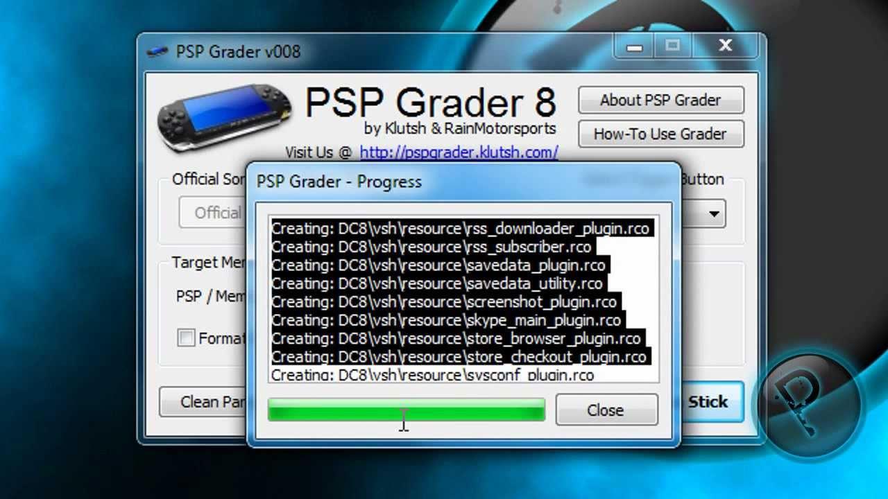 logiciel psp grader v008