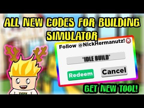 Secret Codes In Roblox Building Simulator Youtube Codes Building Simulator All New Codes Get Tools And Construct New Buildings Roblox Youtube
