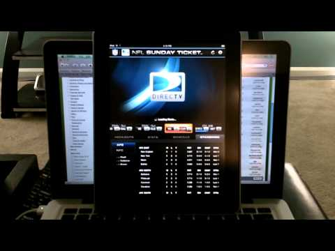 Directv NFL Sunday Ticket On The Apple Ipad HD