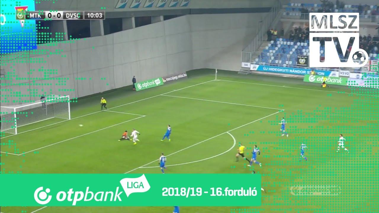 Varga Kevin gólja az MTK Budapest – DVSC mérkőzésen