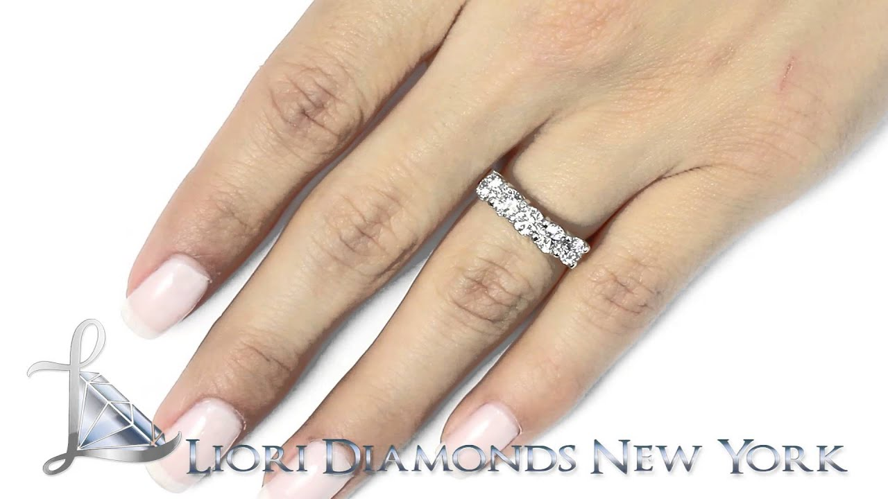 Wba carat e vs stone diamond wedding band anniversary
