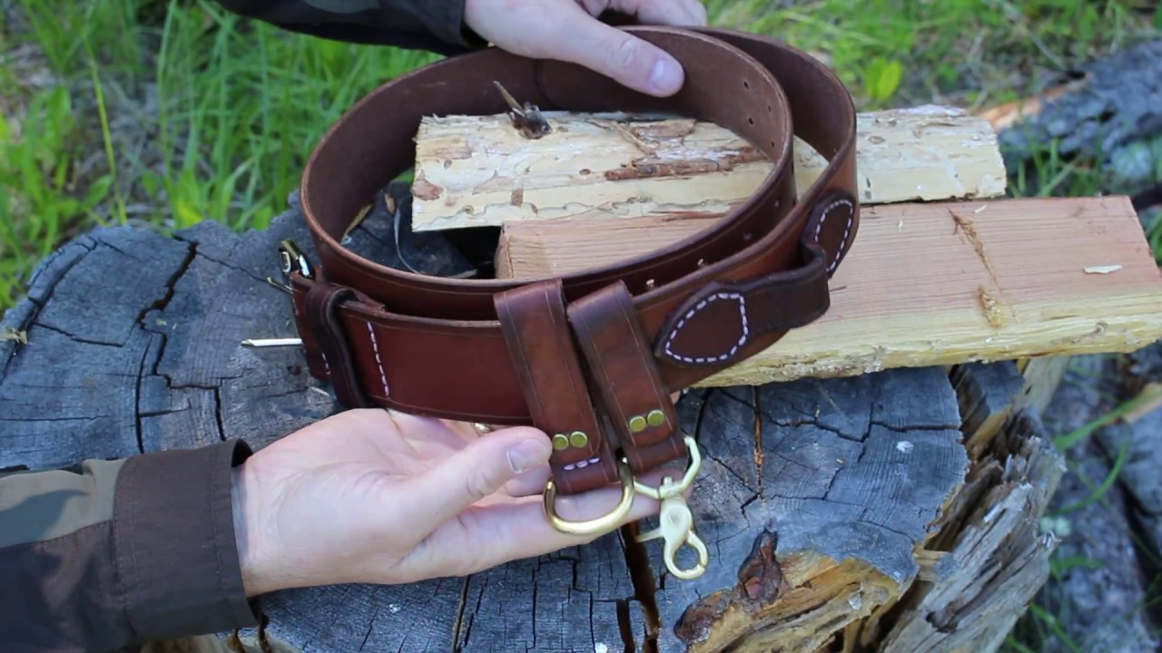 canadian made bushcraft leather gear belt