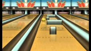 """Wii Sports Resort, Bowling: Spin Control """"Perfect Game"""" 300"""