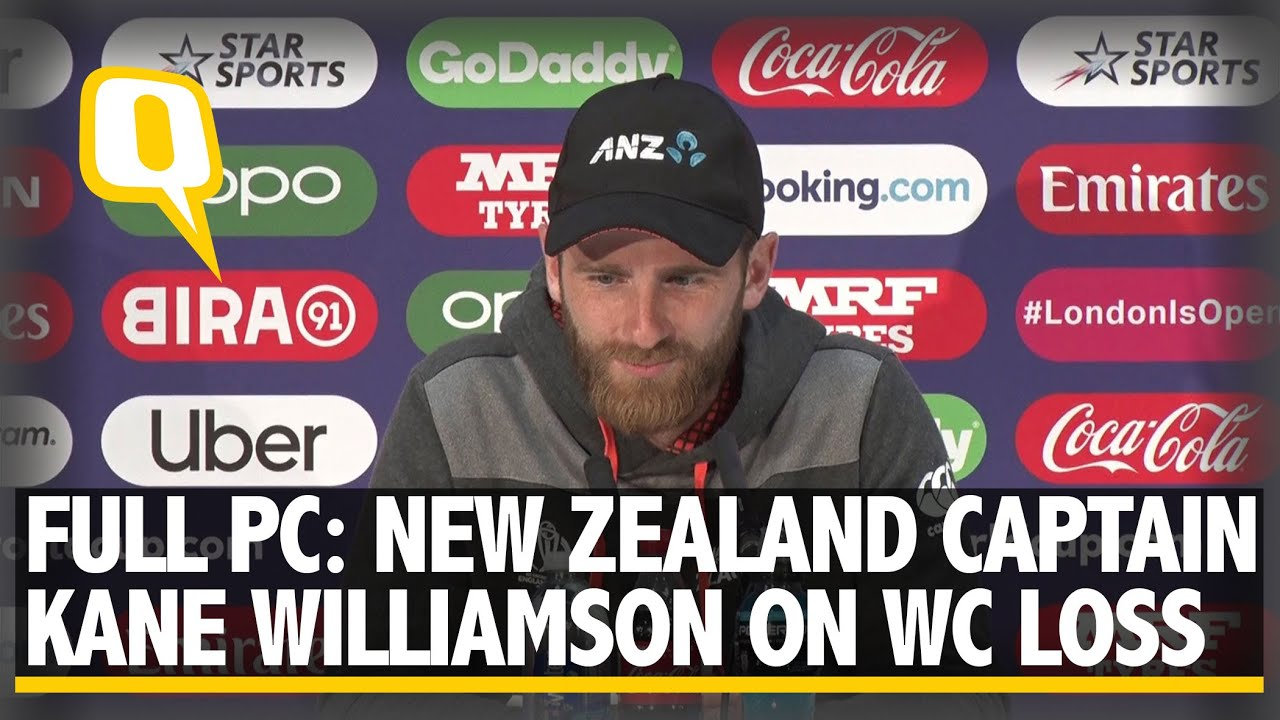 Kane Williamson on New Zealand's Loss to England in Cricket World Cup Final    The Quint
