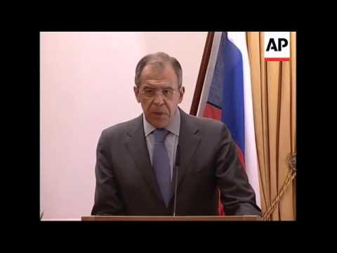 Lavrov on memorial incident in Estonia; protest outside Estonian embassy in Moscow